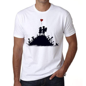 Love Not War Mens Tee White 100% Cotton 00164