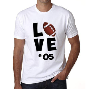 Love Sport 05 Mens Short Sleeve Round Neck T-Shirt 00117 - White / S - Casual