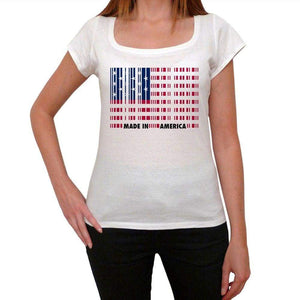 Made In America Bar Code Womens Short Sleeve Round Neck T-Shirt 00111