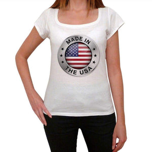 Made In The Usa Womens Short Sleeve Round Neck T-Shirt 00111