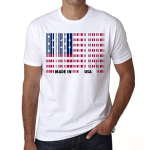 Made In Usa Bar Code Mens Short Sleeve Round Neck T-Shirt
