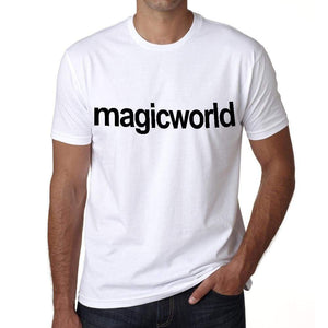 Magic World Tourist Attraction Mens Short Sleeve Round Neck T-Shirt 00071