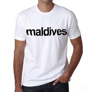 Maldives Mens Short Sleeve Round Neck T-Shirt 00067