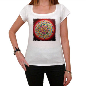 Mandala 1 White Womens T-Shirt 100% Cotton 00176