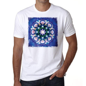 Mandala 10 H Mens White Tee 100% Cotton 00175