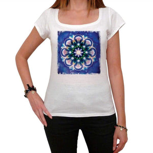 Mandala 10 White Womens T-Shirt 100% Cotton 00176