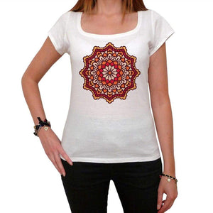 Mandala 12 White Womens T-Shirt 100% Cotton 00176