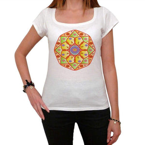 Mandala 17 White Womens T-Shirt 100% Cotton 00176