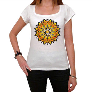 Mandala 19 White Womens T-Shirt 100% Cotton 00176