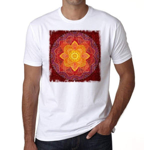 Mandala 2 H Mens White Tee 100% Cotton 00175