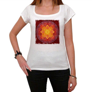 Mandala 2 White Womens T-Shirt 100% Cotton 00176