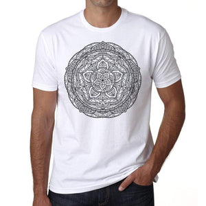 Mandala 20 H Mens White Tee 100% Cotton 00175