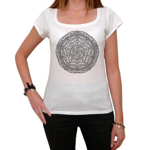 Mandala 20 White Womens T-Shirt 100% Cotton 00176