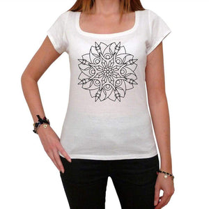 Mandala 21 White Womens T-Shirt 100% Cotton 00176