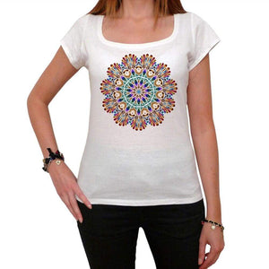 Mandala 22 White Womens T-Shirt 100% Cotton 00176