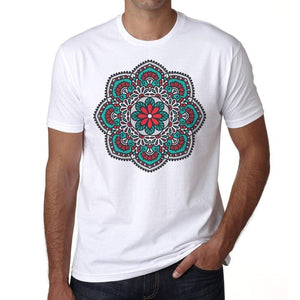 Mandala 23 H Mens White Tee 100% Cotton 00175