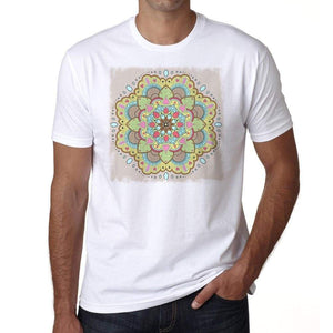 Mandala 24 H Mens White Tee 100% Cotton 00175