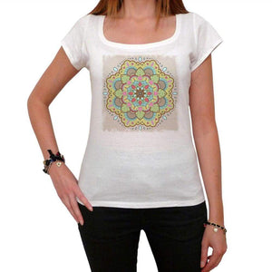 Mandala 24 White Womens T-Shirt 100% Cotton 00176
