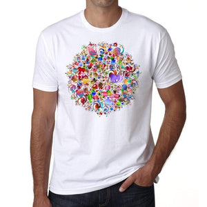 Mandala 25 H Mens White Tee 100% Cotton 00175