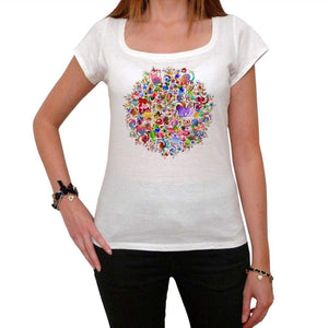 Mandala 25 White Womens T-Shirt 100% Cotton 00176