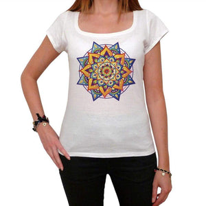 Mandala 26 White Womens T-Shirt 100% Cotton 00176