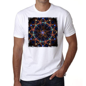 Mandala 27 H Mens White Tee 100% Cotton 00175