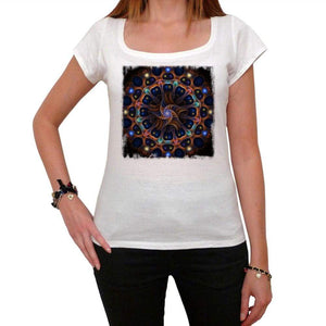 Mandala 27 White Womens T-Shirt 100% Cotton 00176