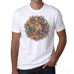 Mandala 28 H Mens White Tee 100% Cotton 00175