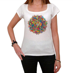 Mandala 28 White Womens T-Shirt 100% Cotton 00176