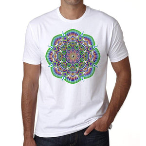 Mandala 29 H Mens White Tee 100% Cotton 00175