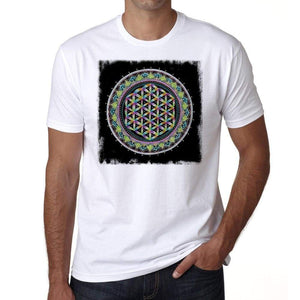 Mandala 3 H Mens White Tee 100% Cotton 00175