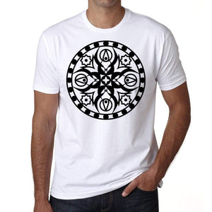 Mandala 4 H Mens White Tee 100% Cotton 00175