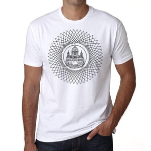 Mandala 5 H Mens White Tee 100% Cotton 00175