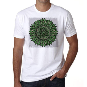 Mandala 6 H Mens White Tee 100% Cotton 00175
