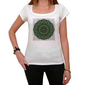 Mandala 6 White Womens T-Shirt 100% Cotton 00176
