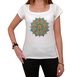 Mandala 8 White Womens T-Shirt 100% Cotton 00176