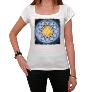 Mandala 9 White Womens T-Shirt 100% Cotton 00176