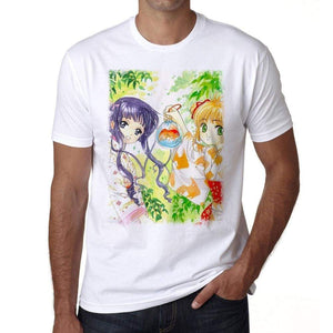 Manga Girls In Kimono T-Shirt For Men T Shirt Gift 00089 - T-Shirt