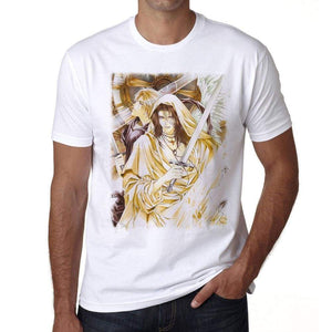 Manga With Sword And Skull T-Shirt For Men T Shirt Gift 00089 - T-Shirt