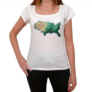 Map Usa Womens Short Sleeve Round Neck T-Shirt 00111