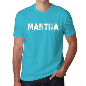 Martha Mens Short Sleeve Round Neck T-Shirt 00020 - Blue / S - Casual