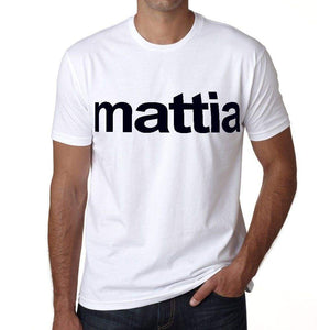 Mattia Mens Short Sleeve Round Neck T-Shirt 00050