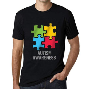 Mens Graphic T-Shirt Autism Awareness Deep Black - Deep Black / XS / Cotton - T-Shirt