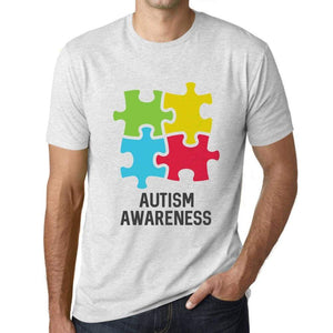 Mens Graphic T-Shirt Autism Awareness Vintage White - Vintage White / XS / Cotton - T-Shirt