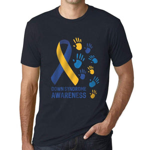 Mens Graphic T-Shirt Down Syndrome Awareness Navy - Navy / Xs / Cotton - T-Shirt