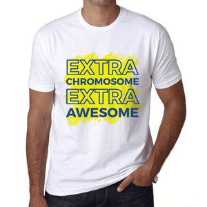 Mens Graphic T-Shirt Down Syndrome Extra Chromosome Extra Awesome White - White / Xs / Cotton - T-Shirt