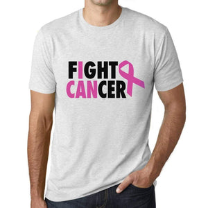 Mens Graphic T-Shirt I Can Fight Cancer Vintage White - Vintage White / Xs / Cotton - T-Shirt
