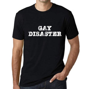 Mens Graphic T-Shirt LGBT Gay Disaster Deep Black - Deep Black / XS / Cotton - T-Shirt