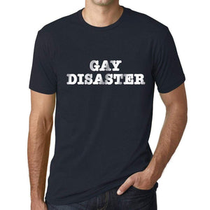 Mens Graphic T-Shirt LGBT Gay Disaster Navy - Navy / XS / Cotton - T-Shirt