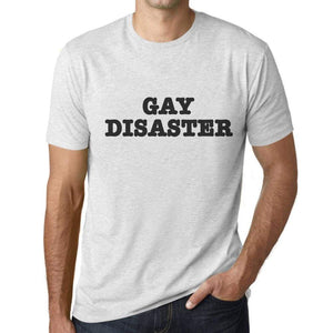 Mens Graphic T-Shirt LGBT Gay Disaster Vintage White - Vintage White / XS / Cotton - T-Shirt